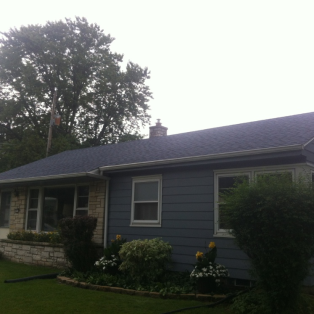 Atlantic blue asphalt shingle installation
