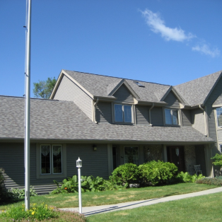 Neutral colored asphalt shingles Wisconsin