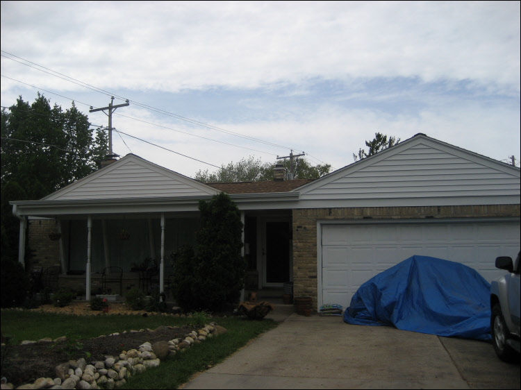 Milwaukee Roofing Repairs - Resawn Shake roof - new siding and trim