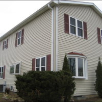 New Mastic Siding, windows, roofing, gutters and trim on this home in Genesee Wisconsin