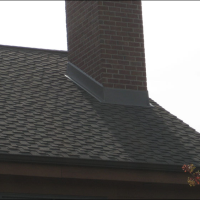 Custom chimney flashing on Milwaukee Roof