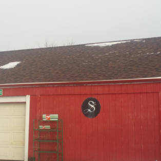 Wisconsin shed roof after replacement